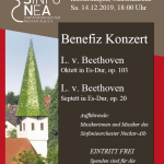 Poster for the concert in Kusterdingen on 12/14/2019