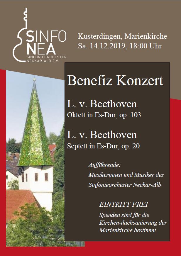 Poster for the concert in Kusterdingen on 12/14/2019
